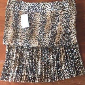 Chico's size 1 Pleated Animal Maxi Skirt